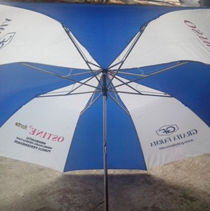 payung lipat 2 biru putih